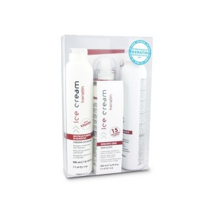 Inebrya Keratin Nitrogenated Kit (Restructuring Shampoo 300ml + One Multi-Action 200ml + Texturizer 150ml)