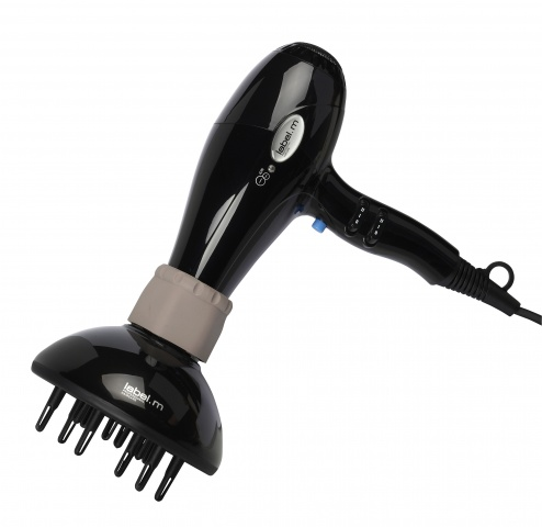 LABEL.M CERAMIC TOURMALINE DRYER EURO- BLACK